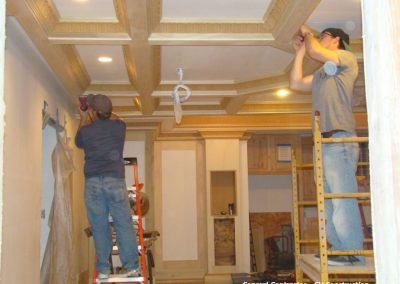 Custom Millwork for a home theater in Lake Quirvira, Kansas