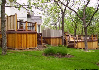 Multi-Level deck in Stillwell, Kansas