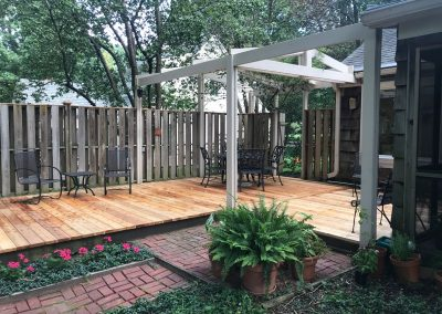 Ground level deck remodel in Leawood, KS